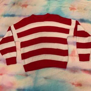 Vintage Where's Waldo/candy cane sweater